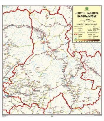 Mapmag Ro Harta Judeţului Harghita Fără Relief Magazinul