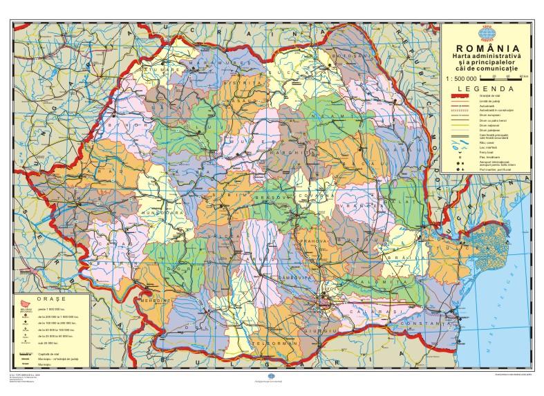 Mapmag Ro Harta Administrativă și Rutieră A Romaniei Magazinul