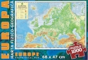Geographic Map of Europe - 1000 piece puzzle